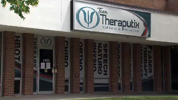 Team Theraputix Rehabilitation and Wellness Centre is seen in this photograph taken on July 22, 2019.