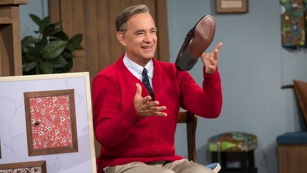 Trailer shows Tom Hanks as Mister Rogers, red sweater and all