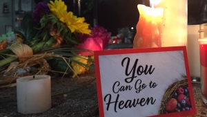 A vigil is held for the victims, families and survivors of the 2018 Danforth shooting in Toronto. (CTV News)