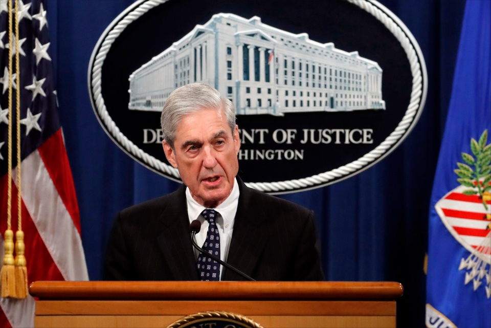 This May 29, 2019 file photo shows special counsel Robert Mueller speaking about the Russia investigation at the Department of Justice in Washington. (AP Photo/Carolyn Kaster, File)