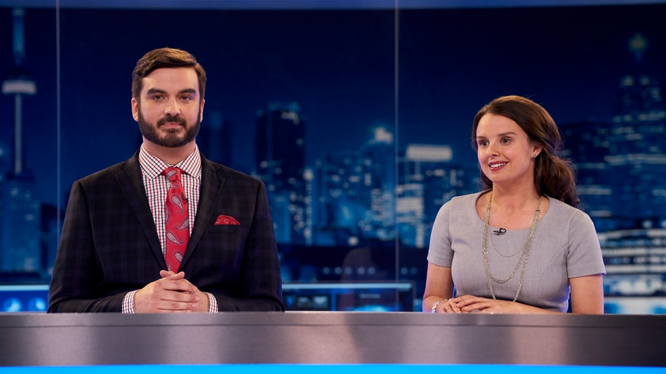 "Co-hosts Miguel Rivas and Emma Hunter of ""The Beaverton"", a Canadian satirical news series, are pictured in an undated handout photo provided July 22, 2019. THE CANADIAN PRESS/HO, Bell Media/CTV"