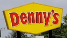 This Thursday, Aug. 3, 2017, photo shows a Denny's sign at one of the chain's restaurants in Hialeah, Fla. (AP Photo/Alan Diaz)