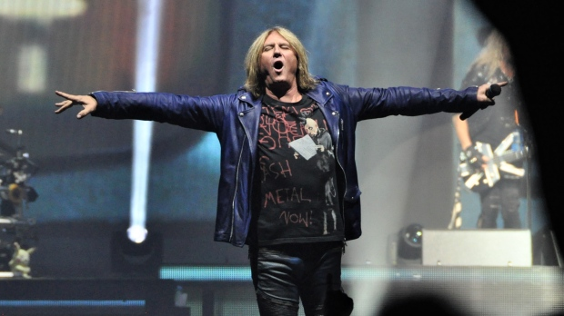 Def Leppard performs at Budweiser Gardens in London, Ont. on Monday, July 22, 2019. (Jim Hayes / CTV London)