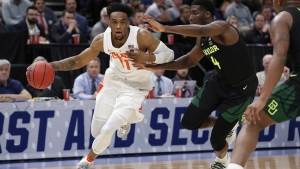 Syracuse forward Oshae Brissett, on March 21, 2019. (Jeff Swinger / AP)