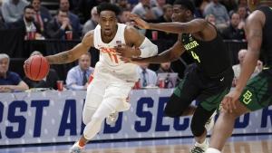 Syracuse forward Oshae Brissett, on March 21, 2019. (Jeff Swinger / AP)