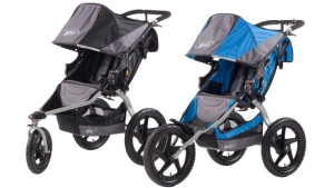 Two models of the BOB jogging stroller are seen in this image provided by Health Canada.