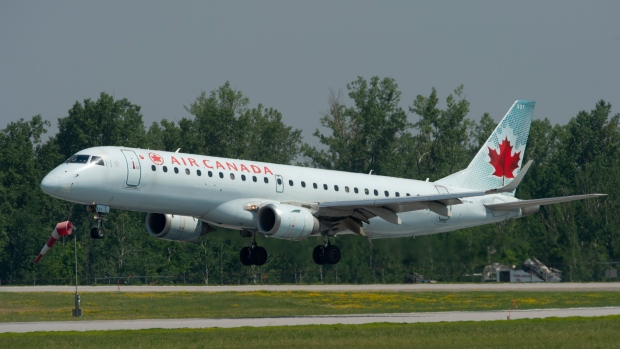 An Air Canada flight