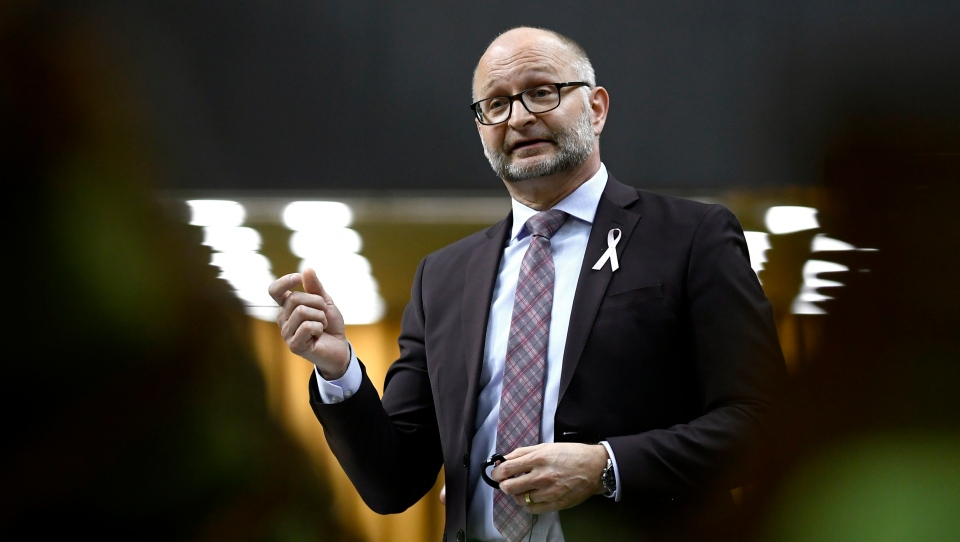 Minister of Justice and Attorney General of Canada David Lametti rises during a Committee of the Whole in the House of Commons on Parliament Hill in Ottawa on May 14, 2019. THE CANADIAN PRESS/Justin Tang