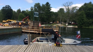 Police have confirmed the body of a man was recovered from the Severn River in Severn Township, Ont on July 23, 2019 (Rob Cooper CTV Barrie).