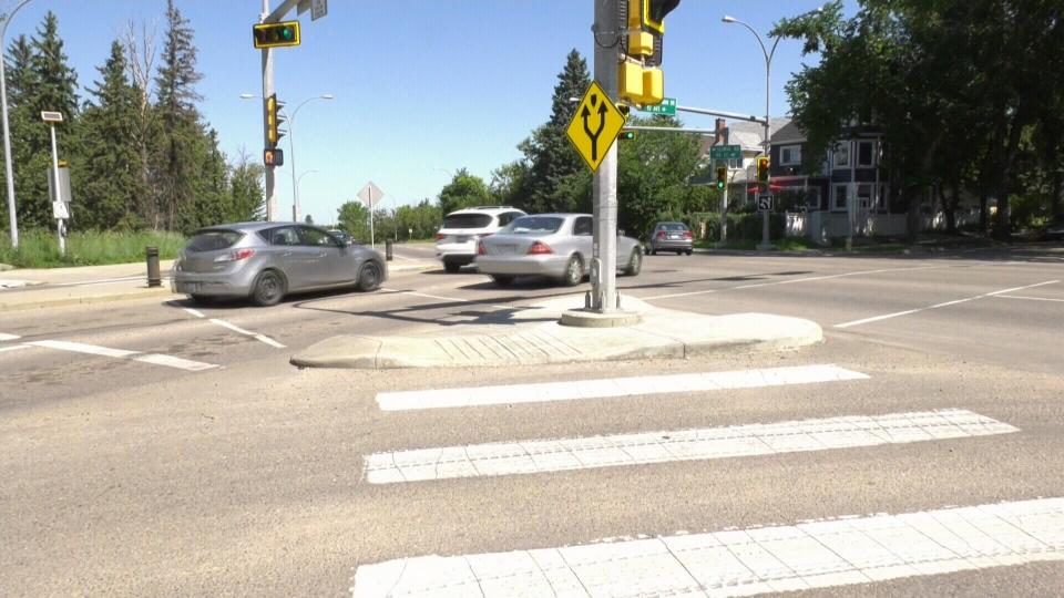 Scona Road and Saskatchewan Drive.