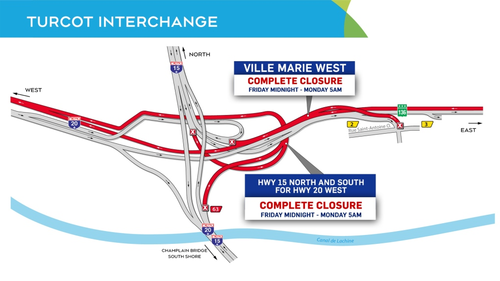 Road closures for the weekend of July 25 to 27 | CTV News Montreal