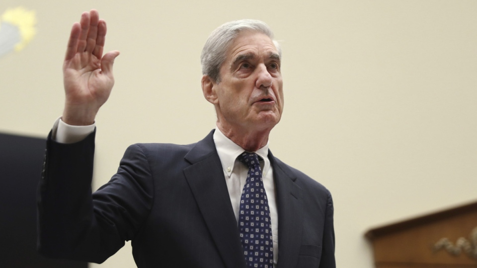Former special counsel Robert Mueller, is sworn in before he testifies before the House Judiciary Committee hearing on Capitol Hill, on July 24, 2019. (Andrew Harnik / AP)
