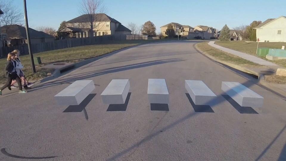 Beaumont is experimenting with two 3D crosswalks to improve pedestrian safety (CTV)