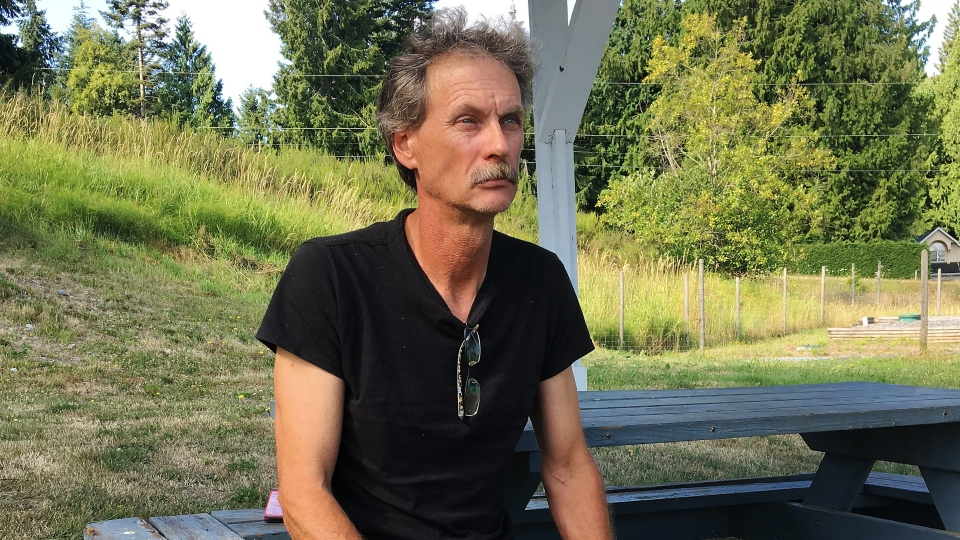 Alan Schmegelsky, father of Bryer Schmegelsky, poses for a photo during an interview with The Canadian Press in Mill Bay B.C. on Wednesday, July 24, 2019.  THE CANADIAN PRESS/Laura Kane