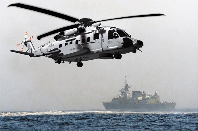 A Canadian Forces CH-148 Cyclone helicopter is seen in this composite image. (Sikorsky Aircraft Corporation)