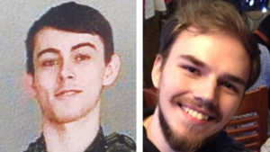 Bryer Schmegelsky, left, and Kam McLeod are seen in this undated combination handout photo provided by the RCMP. THE CANADIAN PRESS/HO, RCMP