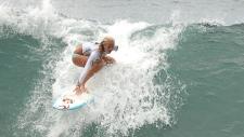 Bethany Hamilton surfing in 2006