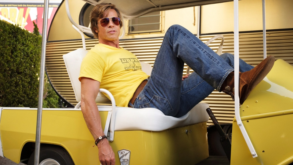 Brad Pitt in Quentin Tarantino's 'Once Upon a Time in Hollywood.' (Andrew Cooper / Sony-Columbia Pictures via AP)