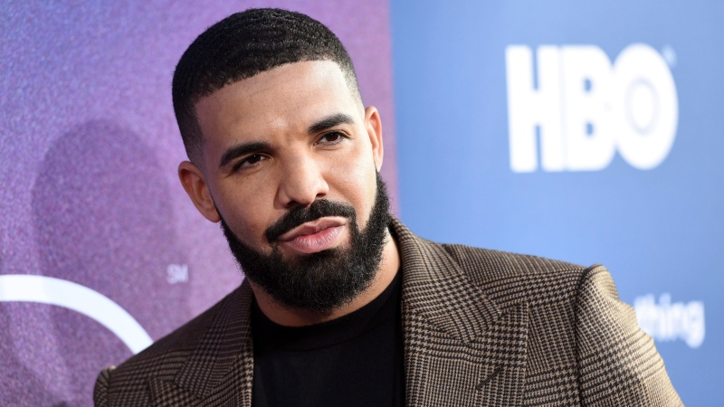"Drake, an executive producer of the HBO drama series ""Euphoria,"" poses at the premiere of the series at the ArcLight Hollywood, Tuesday, June 4, 2019, in Los Angeles. (Photo by Chris Pizzello/Invision/AP)"