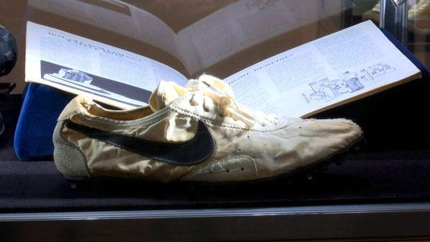 a63058760e1 Canadian collector pays more than $550,000 for rare Nike sneakers ...