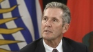 Premier of Manitoba Brian Pallister speaks to media during the Western Premiers' conference, in Edmonton on Thursday, June 27, 2019. THE CANADIAN PRESS/Jason Franson
