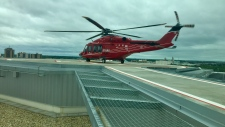 STARS Air Ambulance transported a 17-year-old boy to hospital in Calgary following a crash near Caroline.