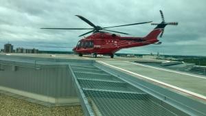 STARS Air Ambulance transported a 17-year-old boy to hospital in Calgary following a crash near Caroline.