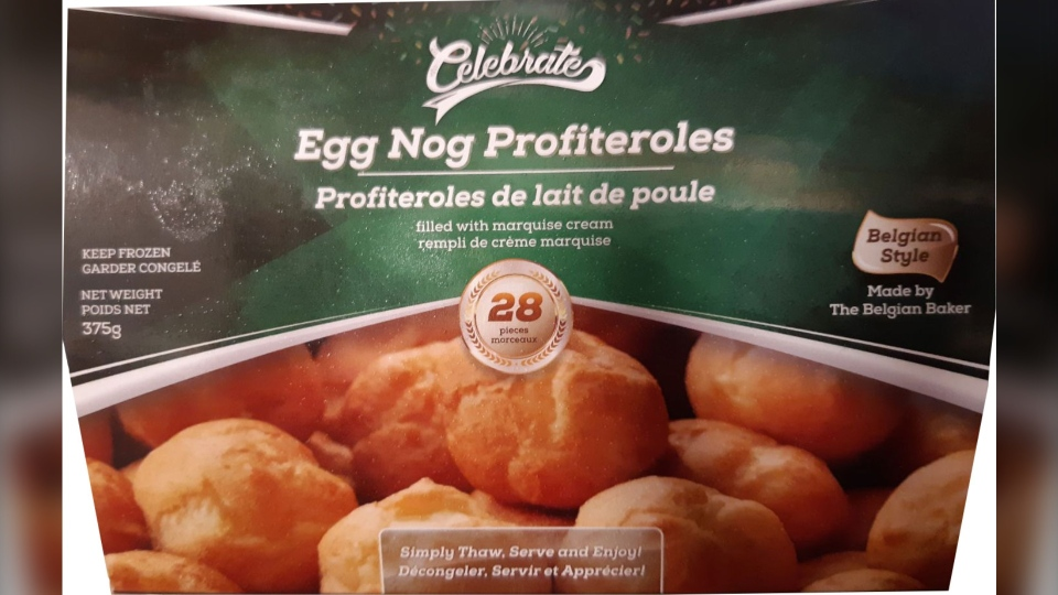 Celebrate brand profiteroles being recalled are s