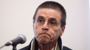 Hassan Diab speaks with reporters in Ottawa on January 17, 2018. THE CANADIAN PRESS/Sean Kilpatrick