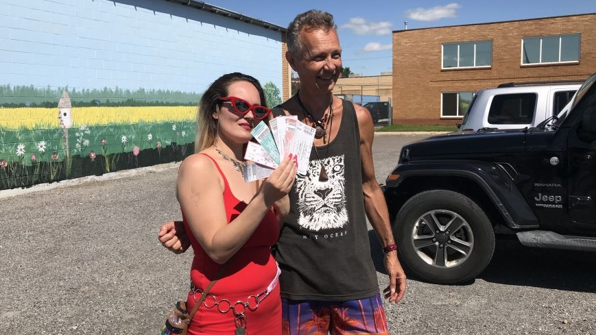 Bob Pearce and Angela Munroe have been traveling across Canada, catching every Def Leppard concert along the way. (Cally Stephanow / CTV Regina).