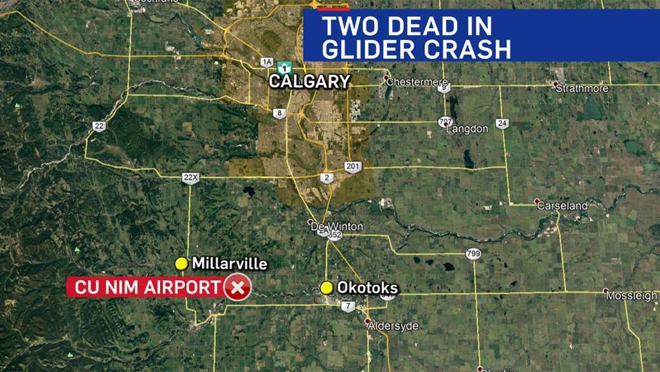 Two people were pronounced dead following a Friday afternoon glider crash near the Cu Nim Gliding Club
