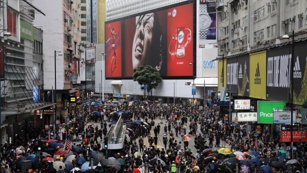 Hong Kong protest financial district