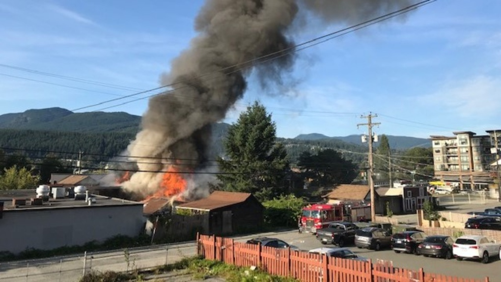 Large fire in Port Moody knocks out power for 1,800