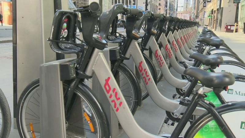 The increase in Bixi usage in 2019 came despite increased competition from new ride-sharing services available in the city. (File)
