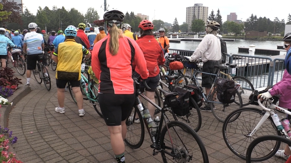 Cyclists embark on a 4-day journey across northern Ontario (Nicole Di Donato/CTV Northern Ontario)