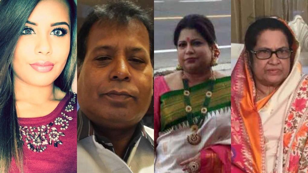 Menhaz Zaman's family