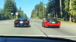 Caught on cam: Sports cars collide in Surrey