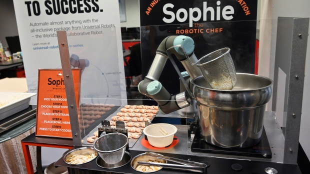Sophie the robotic chef whips up oodles of Singapore noodles