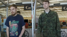 Bryer Schmegelsky and Kam McLeod are shown in surveillance camera video.