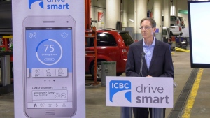 ICBC CEO Nicolas Jimenez introduces the Techpilot app in this image from July 2019. (Gary Barndt)