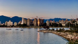 The Vancouver skyline is seen in a photo captured by Denise Salmon and submitted through our app, Weather Watch by CTV Vancouver.