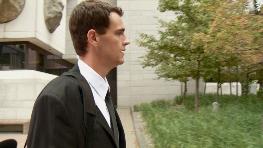 John Anstie leaves court after being convicted.