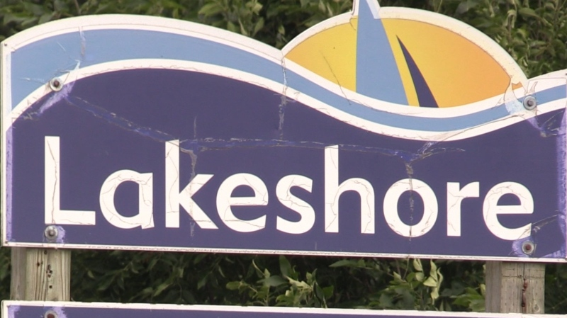 Town of Lakeshore signage for the community of Stoney Point. (Rich Garton / CTV Windsor)