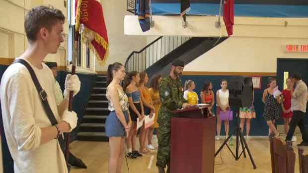 Students travel to Canada to honour veterans who died in WWII liberation of France