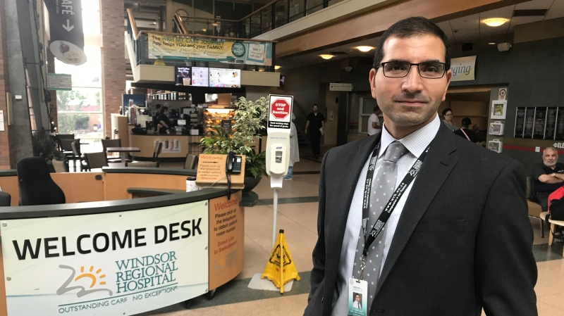 Dr. Wassim Saad takes over as new chief of staff at Windsor Regional Hospital in July, 2019. (Angelo Aversa / CTV Windsor)