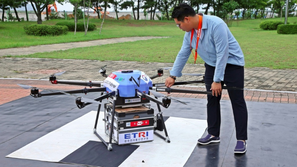 Seoul has begun testing delivery by drone in South Korea's remote regions. (AFP)