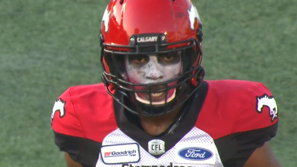 Stampeders defensive back Robertson Daniel says he will play every game while wearing Joker face paint. (TSN)