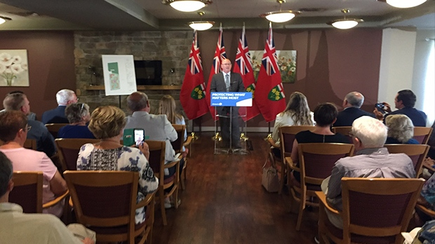 Steve Clark, Minister of Municipal Affairs and Housing, made an announcement in Barrie on Wed., July 31, 2019 (CTV News Barrie)