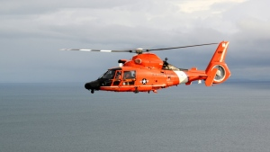A U.S.Coast Guard MH-65 Dolphin helicopter from Air Station Port Angeles is seen in this undated file photo. (Twitter: USCGPacificNW)