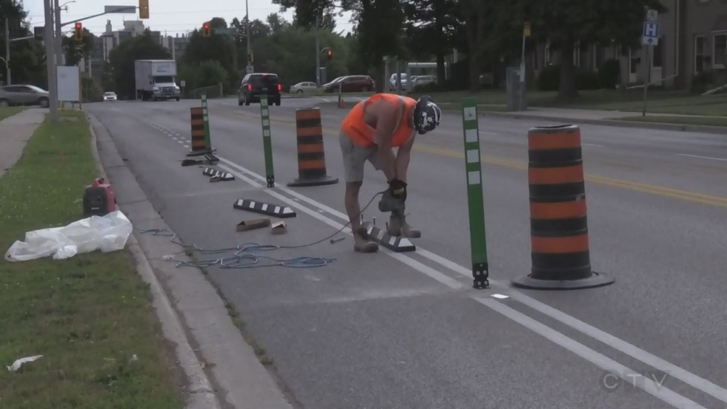 Million-dollar protected bike lane project approved in Waterloo